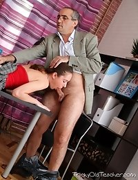 He loves to wank his cock over those lovely little titties after fucking Arina nice and hard. She's just an inexperienced young girl, but when he