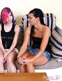 The aged lesbian slut wanted to see young babe fucking and she go what she wanted. Tiffany fucked her friend so wildly.