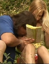 Horny old fart enjoys being lucky while drilling a hot young blonde in all of her tight wet holes