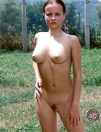 Masturbation outside is very exciting and makes young April three times hornier than masturbation in her room.