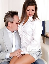Maia really likes her teacher and would have fucked him no matter what. Luckily she gets a passing grade and she gets to feel his big dick inside her