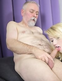The reason this guy loves old goes young sex is because young girls like Helena give great head. And that is where it all starts for them.