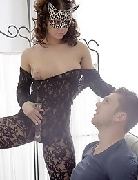 My first port of call was Raisa's tits which I sucked sensuously and she gave me access to her pussy which I banged hardcore when I fucked her fi