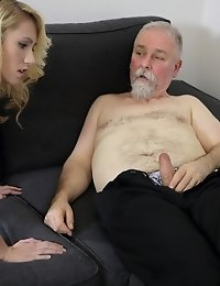 Helena knew this old goes young guy loved her blowjobs and she wanted to give him her best one yet. She gave it to him and blew his mind and dick away
