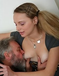 Fussy naked girl and sucking balls