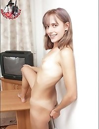 Teen with black dildo